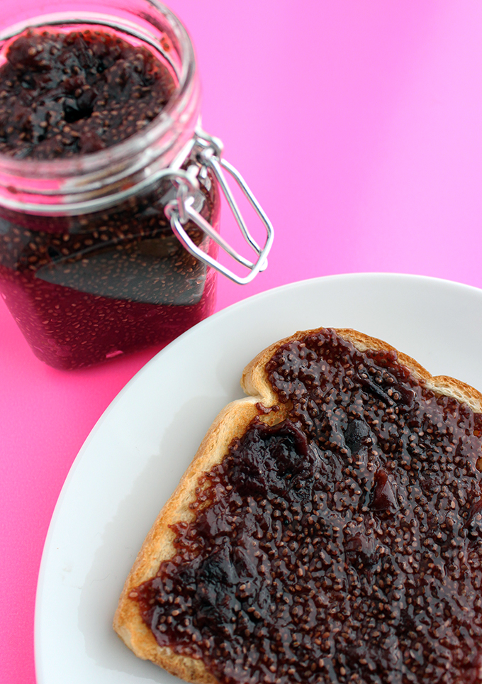 30 Minute Cherry Chia Jam