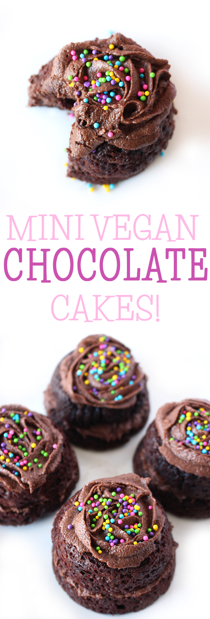 Mini Vegan Chocolate Cakes