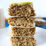 The traditional flavours of lemon poppy seed shine in these delicious quinoa bars. Made vegan and naturally gluten free!