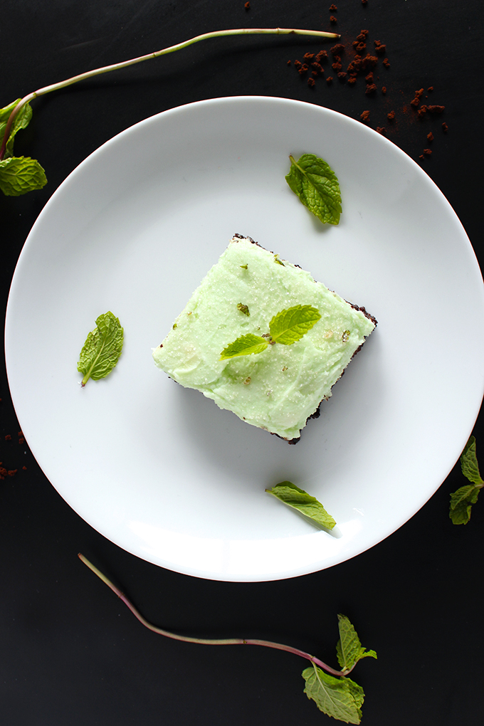 Vegan Midnight Mint Mocha Brownies