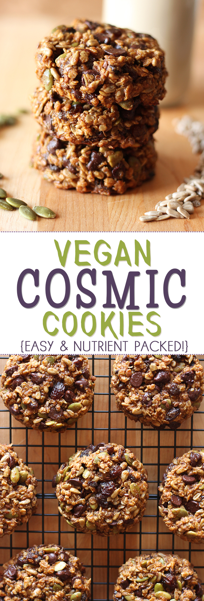 The powerhouse of all cookies = cosmic cookies! Packed full with tonnes of nutritious ingredients, these make the perfect any time snack!