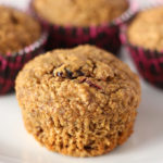 These vegan cranberry flax muffins are simple AND satisfying! Packed with flax, oat bran and cranberries these make for a delicious anytime snack!