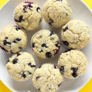 These classic vegan blueberry muffins are perfect to satisfy those muffin cravings! Chia seeds add a bit of crunch and tonnes of nutrients to these amazing muffins!