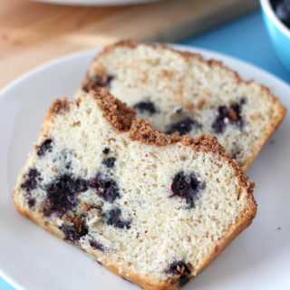 This easy vegan blueberry coffee cake is moist, fruity, and supremely delicious - it's the perfect breakfast or snack loaf!