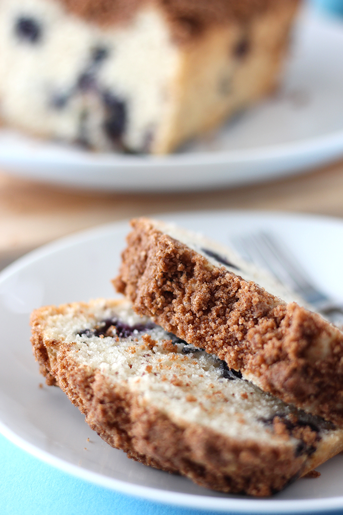 Vegan Blueberry Coffee Cake Loaf