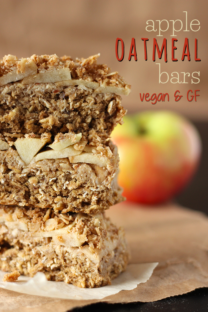 Apple Oatmeal Bars (V, GF)